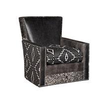 Nicole Leather/Fabric Swivel Chair, Nicole Ottoman
