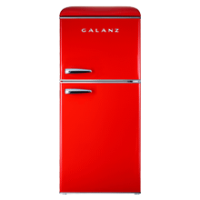 Galanz 4.0 Cu Ft Retro Top Mount Refrigerator in Hot Rod Red