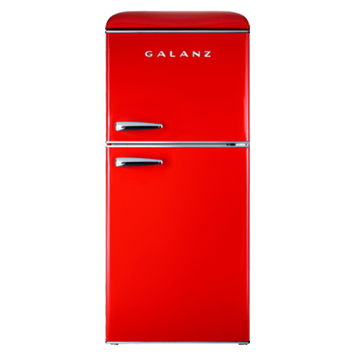 Galanz - Galanz 4.0 Cu Ft Retro Top Mount Refrigerator in Hot Rod Red