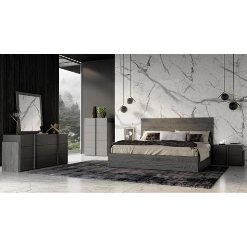 Nova Domus Lucia Italian Modern Matte Grey / Elm Grey Bed