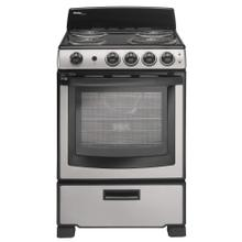 """See Details - Danby 24"""" Stainless Steel Free Standing Electric Coil Range"""