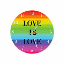 Love Is Love Flag Round Acrylic Wall Clock