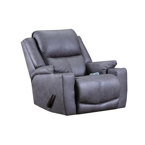 Chaz Charcoal Heat and Massage Recliner