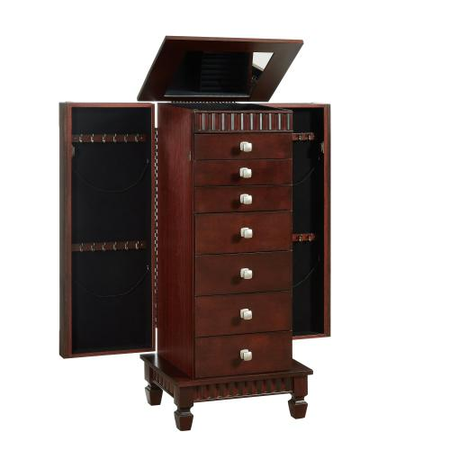 7-drawer Jewelry Armoire, Merlot