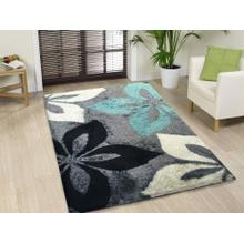 "Vibrant Hand Tufted Modern Shag Lola 009 Area Rug by Rug Factory Plus - 7'6"" x 10'3"" / Gray Turquoise"
