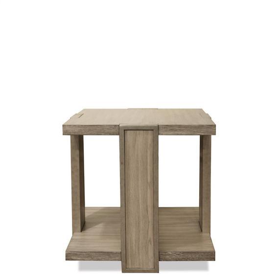 Riverside - Sophie - Square Side Table - Natural Finish