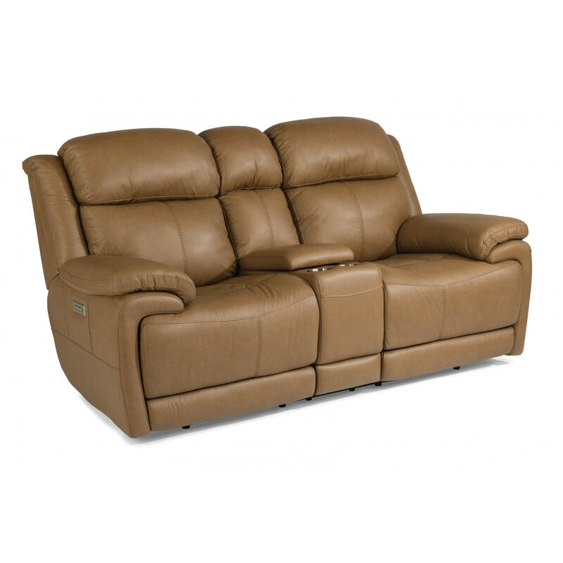 Elijah Power Reclining Loveseat with Console & Power Headrests