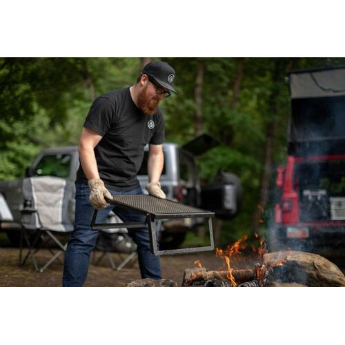 "Lumberjack Over Fire Grill 16""x24"""