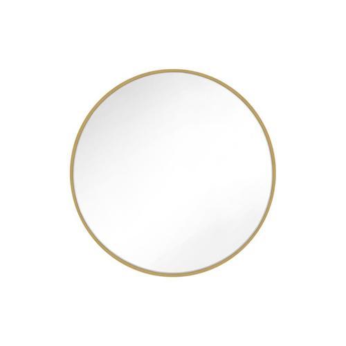 Feiss - Kit Round Mirror Burnished Brass