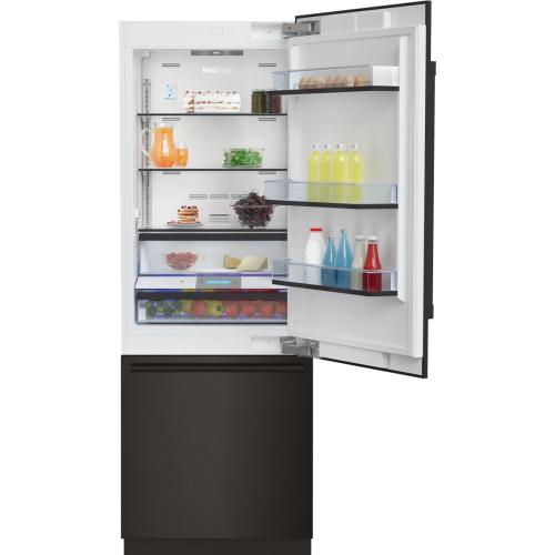 "30"" Carbon Fiber Built-In Bottom Freezer with Ice Maker"