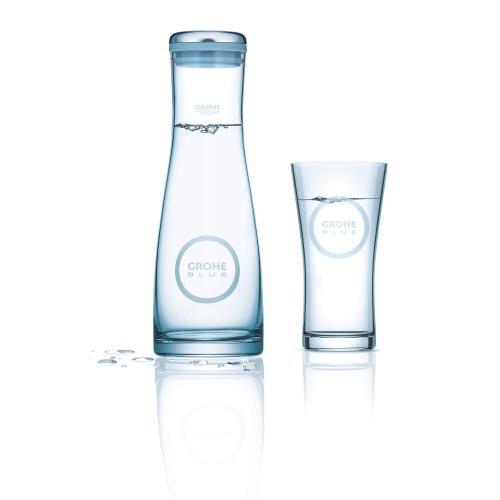 Blue Grohe Blue Glass Carafe
