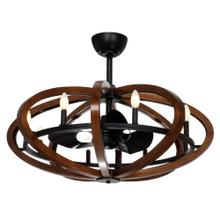 Bodega Bay 8-Light LED Chandelier with Fan
