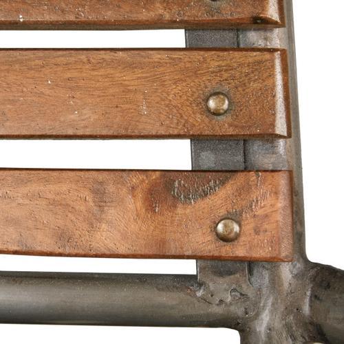 Rustic Barclay Wood and Metal Frame Barstool
