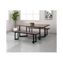 See Details - Manzanita Midnight Bench with Different Bases, VCS-BN60M