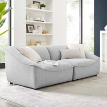 Comprise 2-Piece Loveseat in Light Gray