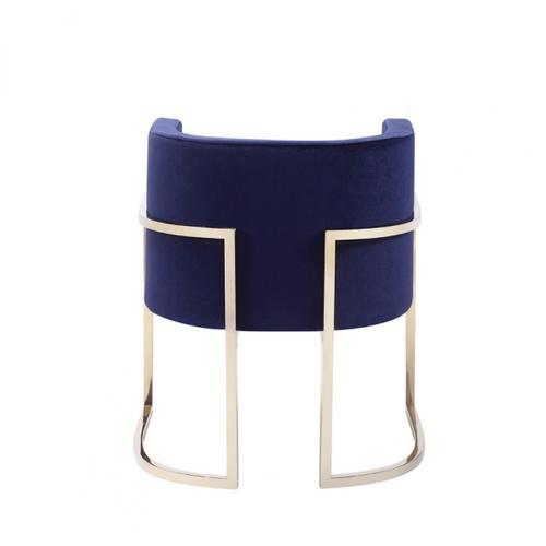 Modrest Betsy Modern Navy Blue Velvet & Gold Dining Chair