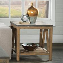 Weatherford Rectangular Side Table with Bluestone Top Finish