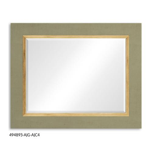 """""""Homespun"""" mirror (Lichen/Gold)"""