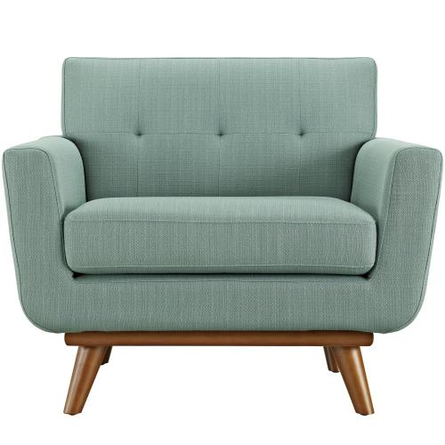 Engage Upholstered Fabric Armchair in Laguna