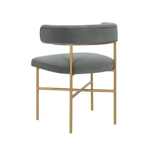 Product Image - Kim Performance Velvet Chair in Grey