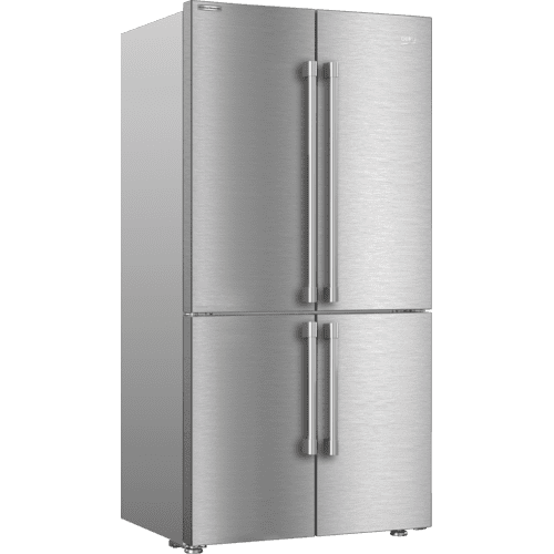 "36"" French Four-Door Stainless Steel Refrigerator with auto Ice Maker, Water Dispenser"