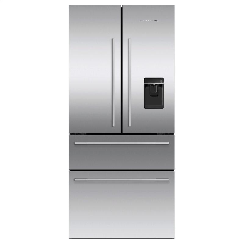 """Freestanding French Door Refrigerator Freezer, 32"""", 16.9 cu ft, Ice & Water"""