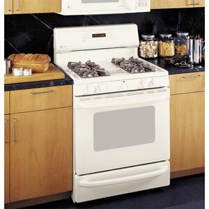 "GE Profile Spectra 30"" Self Clean Convection Gas Range with Warming Drawer"