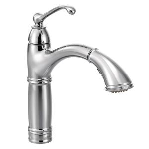 Brantford chrome one-handle pullout kitchen faucet Product Image