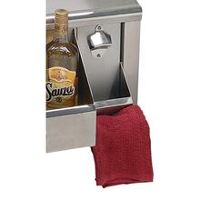 BOTTLE OPENER W/ CAP CATCH & TOWEL RACK