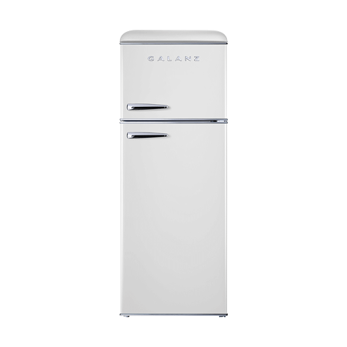 Galanz 7.6 Cu Ft Retro Top Mount Refrigerator in Milkshake White