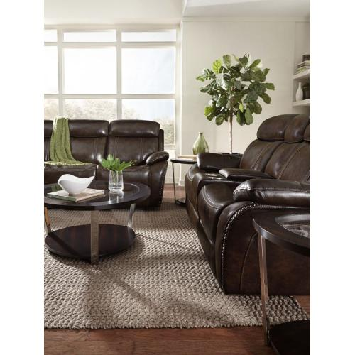Edmond Power Motion Reclining Sofa, Brown