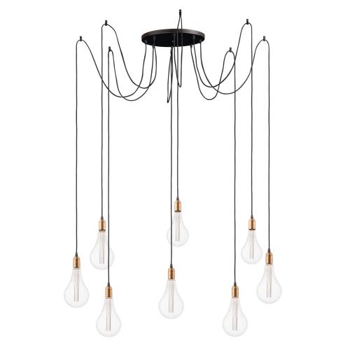 Early Electric 8-Light Pendant with A52 LED Bulbs
