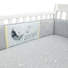 Disney Baby Mickey Mouse Gray/Yellow Celestial 4-Piece Crib Bumper