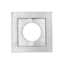 Square flush pull 65x65 with round cylinder hole, Antique Brass Dark