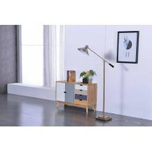 2803 BRASS Task Floor Lamp