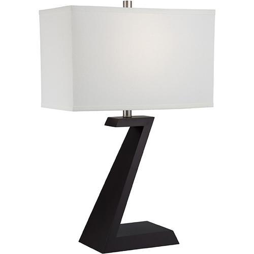 Table Lamp, Dark Walnut Finished/linen Fabric, E27 Cfl 23w