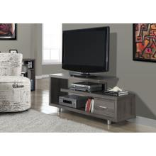 """See Details - TV STAND - 60""""L / DARK TAUPE WITH 1 DRAWER"""