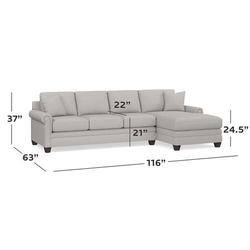 Bassett Furniture - Carolina Panel Arm Right Chaise Sectional