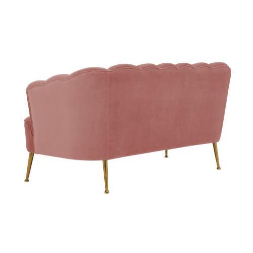 Tov Furniture - Daisy Petitie Blush Velvet Settee