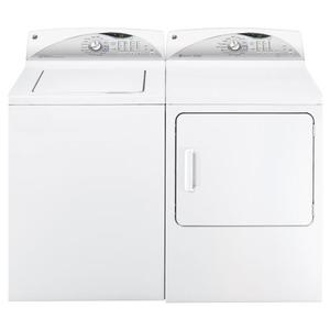 GE® 7.0 cu. ft. capacity gas dryer with steam and HE Sensor Dry