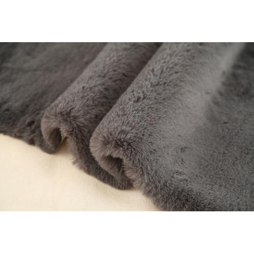"""Chinchilla Feel Faux Fur Area Rug by Rug Factory Plus - 7'6"""" x 10'3"""" / Charcoal Gray"""