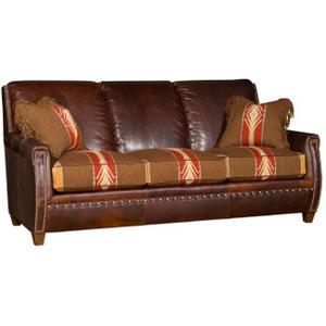 King Hickory - Grant Leather/ Fabric Sofa