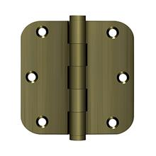 """View Product - 3-1/2"""" x 3-1/2"""" x 5/8"""" Radius Hinge, Residential - Antique Brass"""