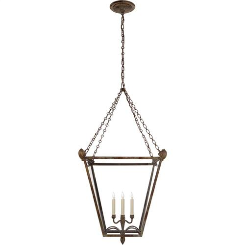 Visual Comfort CHC3310WVG-CG E. F. Chapman Dumfries 4 Light 22 inch Weathered Verdigris Foyer Lantern Ceiling Light