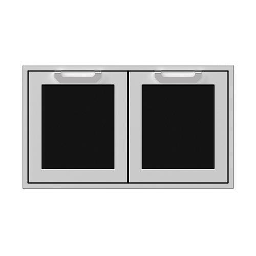 """36"""" Hestan Outdoor Double Storage Doors - AGSD Series - Stealth"""