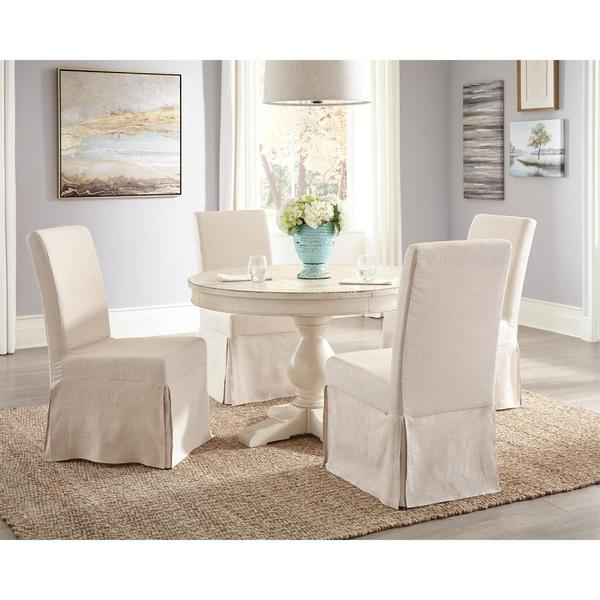 See Details - Mix-n-match Chairs - Slipcover Parson's Chair - Canby Rustic Pine Finish