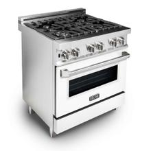 ZLINE 30 in. Professional Dual Fuel Range with White Matte Door (RA-WM-30)