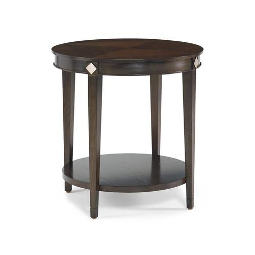 CTH Sherrill Occasional - Diamond Round Lamp Table