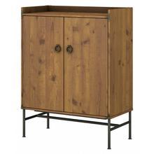 Ironworks Storage Cabinet with Doors - Vintage Golden Pine