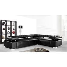 Divani Casa Disco - Modern Leather Sectional Sofa